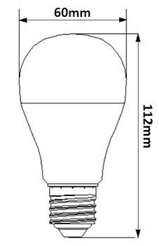 Dimensions ampoule LED 8.5W