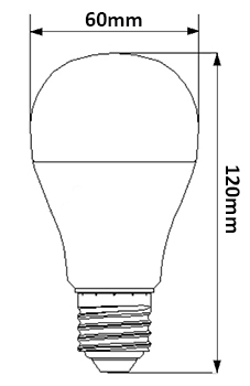 Dimensions ampoule LED 11W