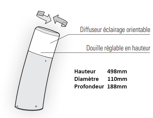 Dimensions borne Roger Pradier Bamboo 3