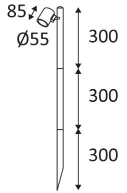 Dimensions INDIGO GUNZY P OU18724