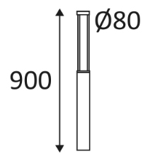 Dimensions borne INDOIGO Luxi 80 OU234NW24