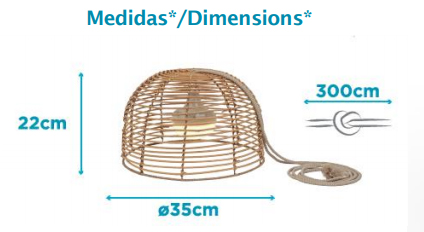 Dimensions suspension New Garden Bossa
