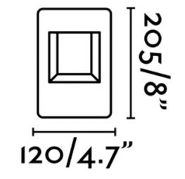 Dimensions potelet FARO NAYA 71198