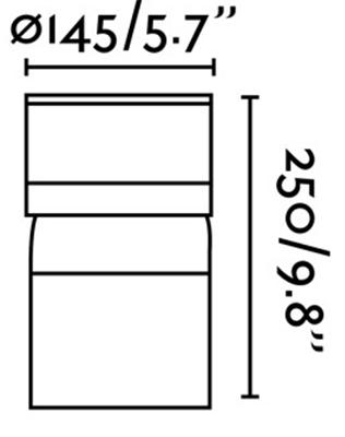 Dimensions potelet FARO SETE 75521