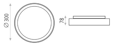 Dimensions plafonnier ACB TILO