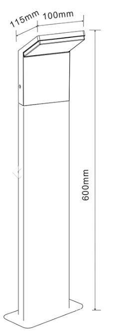 Dimensions BENEITO Cam 0,60m