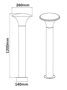 Dimensions borne TRIO Kongo 420160142
