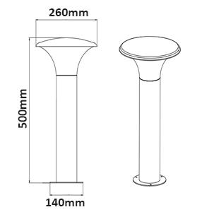 Dimensions borne TRIO Kongo 520160142