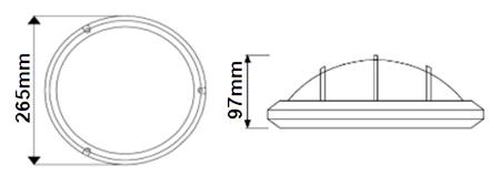 Dimensions DECOLITE Deimos avec grille