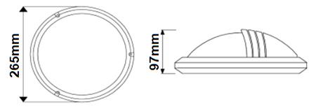 Dimensions DECOLITE Deimos avec visière