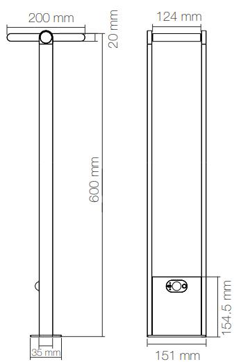 Dimensions beneito borne popa 60cm