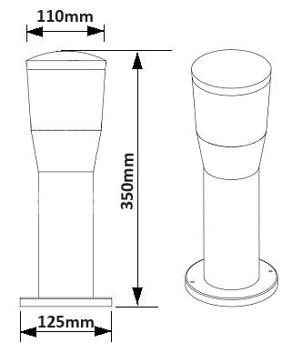 Dimensions potelet TRIO Shannon 522060142