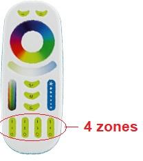 fonctionnement télécommande RGB CW WW