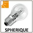 Ampoules sphériques halogènes E27,E14 et B22