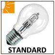 Ampoules standards halogènes E27 et B22