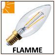 Lampes LED flamme E14/E27/B22