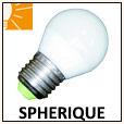 Lampes LED sphérique E14/E27/B22