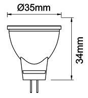 Dimensions ampoule MR11 BENEITO TUTTO