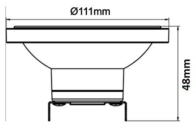 Dimensions ampoule DR111 DURALAMP