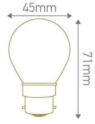 Dimensions ampoule de guirlande sphérique B22