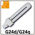 Ampoules fluo-compactes doubles G24d, G24q