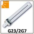 Ampoules fluo-compactes simples G23, 2G7