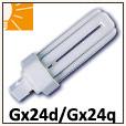 Ampoules fluo-compactes triple Gx24d, Gx24q