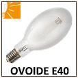 Lampe ovoïde iodure métallique E40