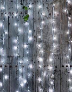Rideau Led Extérieur solaire Blanc Froid Blachère illumination
